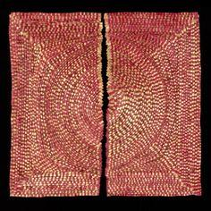 'Sol Rojo 3' (2012) by Colombian artist Olga de Amaral (b.1932). Linen, gesso, acrylic, 27.5 x 29 in. via Bellas Artes Gallery on artsy