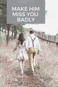 How do you make a guy miss you badly? How do I make him worry about losing me? How do I make him jealous? How do you make him want you back? Make Him Miss You, Make A Man, How To Make, Best Relationship Advice, Marriage Relationship, Happy Relationships, Marriage Help, Happy Marriage, Miss You Text