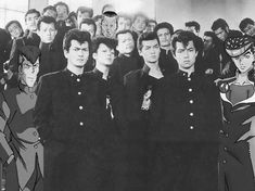 Real Japanese Delinquents, as seen on Animes Rockabilly, Arte Digital Fantasy, Japanese Gangster, Japanese High School, Japanese Guys, Japanese School Uniform, Japanese Aesthetic, 80s Aesthetic, Marlon Brando