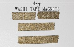 LOVE this idea!! Recycle business card magnets and create your own stylish magnets using washi tape. Brilliant!