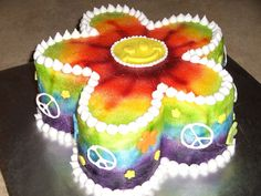 Tie dye Flower on Cake Central