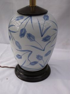 Hand Painted Porcelain LampWood Blue and by 1littletreasureshop, $48.00