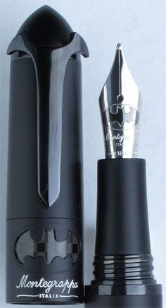 Montegrappa Batman Limited Edition Fountain Pen (HOLY CRAP!) WOW!! A Bat Pen! I really like this one.