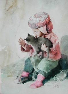 Guan Weixing watercolor