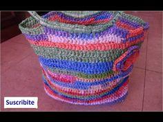 Cómo Hacer un Bolso con Bolsas Plásticas Recicladas a Crochet - YouTube