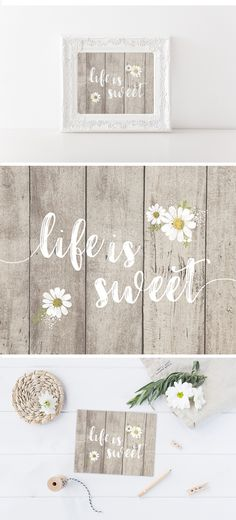 """Celebrate the sweeter side of life with this adorable """"life is sweet"""" print! This cutie will be the perfect addition to your nursery or little girl's room!"""