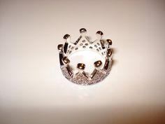 Disney Princess Tiara Queen Crown Ring Sterling by AOSDESIGN