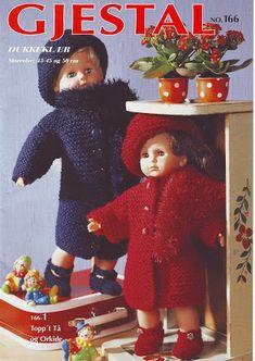 Albumarkiv - Gjerstal 166 Crochet Doll Clothes, Archive, Crochet Hats, Album, Baseball Cards, Dolls, Collection, Book, Knitting Hats