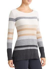 Cashmere Lodge Striped Sweater