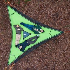 The Trillium is the foundation of a tree tent. With this hammock, you can stack 2 or 3 safely under your tree tent to create the multi-floor outdoor living habitats. Utilize Trillium hammocks to ad Camping Essentials, Camping Gear, Camping Hacks, Camping Site, Survival Essentials, Hiking Gear, Survival Gear, Hammock Tent, Camping Hammock