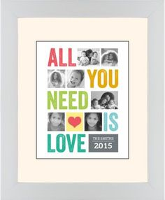 All You Need Is Love Framed Print, White, Contemporary, Black, Cream, Single piece, 11 x 14 inches