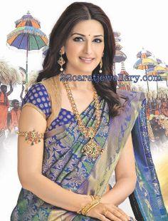 Jewellery Designs: Sonali Bendre Temple Jewellery(kalayana Kanchi ad)...