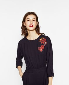 Image 2 of EMBROIDERED JUMPSUIT from Zara