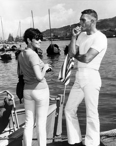 """Steve McQueen & his wife Neile taken while filming """"Sand Pebbles""""!"""