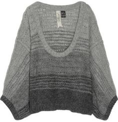 ShopStyle: Bird by Juicy Couture Degradé mohair-blend sweater