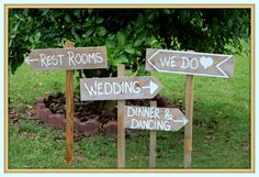 Country Cowgirl Wedding Signs with Stakes Outdoor Wedding Decorations Wooden Wedding Signs, Rustic Wedding, Country Wedding WE DO SIGN on Etsy, $99.00