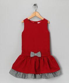 Red Gingham Bow Dress - Infant, Toddler & Girls
