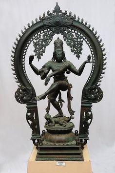 """source: The Hindu HYDERABAD:ANDHRA PRADESH Bronze Nataraja, Vijayanagara Period, 14th C. This is the Lord of Dance. His gestures and attributes represent three phases - creation, sustenance and destruction. His movements are rhythmic, his poise perfect..,"""" the guide tries to attract the attention of the visitors to Nataraja, a finely modelled bronze item prominently shown at the Salarjung Museum's South Indian bronzes section."""