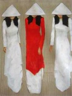 Similar to a canvas painting I have. Love the traditional Vietnamese dresses. Artist is Nquyen Thanh Binh.
