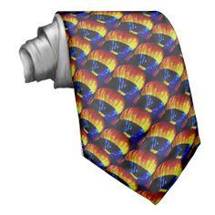 Rainbow Hot Air Balloon Tie