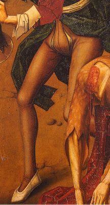 Finales del XV. Decapitación de San Juan Bautista, Maestro de Miraflores, Museo del Prado, Madrid (detalle)