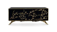 Cabinet SPELLBOUND by Koket There is a sense of reveal & conceal as KOKET takes a beautiful chest form and adorns it metal organic lace, revealing a mesmerizing hint of what lies beneath.  #luxuryfurniture #homedecorationideas See more at: http://bykoket.com/guilty-pleasures/casegoods/spellbound-cabinet.php#sthash.ynSAmVdt.dpuf