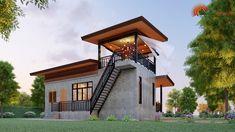 Modern Tropical House, Tropical House Design, Modern Small House Design, Tiny House Design, Cob House Plans, Craftsman Style House Plans, Dream House Plans, Philippines House Design, Casa Top