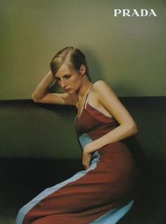Campaign: Prada  Season: Fall 1996  Photographer: Unknown  Model(s): Esther de Jong