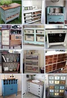 Clever Ways To Repurpose A Dresser. ❤️
