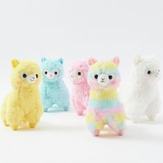 Alpacasso are very popular of course in Japan, but also in the United States! Alpacasso are kawaii characters inspired by Alpaca, social herd animals!  A Rainbow Alpacasso plushie exists?! Yes, and now you can add this multi-colored cutie and his colorful friends to your collection! White, Lemon, Peach, and Sky are also part of this cheerful Rainbow series by Amuse. Their rich, vividly colored, ...