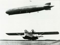 When it was fun to fly.    Dornier Do R4 Super Wal and LZ 127 Graf Zeppelin by kitchener.lord, via Flickr