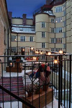 - Terrace Design, Patio Design, Exterior Design, House Design, Tiny Balcony, Balcony Garden, Balcony Ideas, Winter Balkon, Small Outdoor Spaces