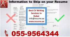 Resume.ae: Information to Skip on your Resume, follow us at h...