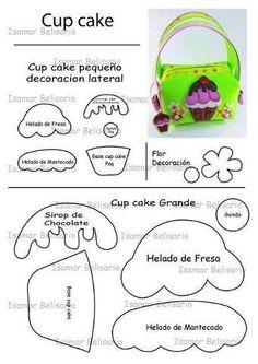 cartera de foami cupcake - Buscar con Google