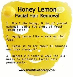 Natural diy hair removal recipes facial hair hair removal and facial for women in menopausal state its natural for more facial hair and this is a cheap alternative for hair removal this is what it promise solutioingenieria Gallery