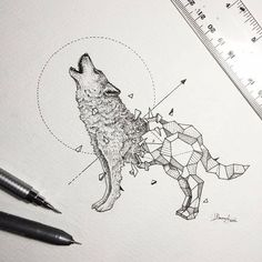 Inspiração-desenho-tatuagem-de-lobo-3.jpg (564×564)