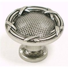 Ribbon & Reed Knob 1 1/4'' - Pewter Antique amazon