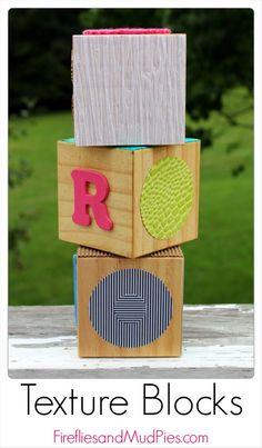 Zrób to sam - klocki z teksturą. DIY Texture Blocks for sensory play Baby Sensory, Sensory Activities, Infant Activities, Sensory Play, Activities For Kids, Sensory Blocks, Sensory Diet, Diy Gifts For Kids, Diy For Kids