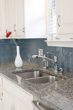 easy kitchen upgrade with peel and stick backsplash glass