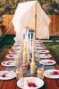 Outdoor Glamping-Inspired Dinner