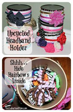 DIY Upcycled Headband Hairbow Holder Tutorial