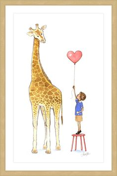 Giraffe and Boy - Marmont Hill
