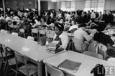 eternallybeautifullyblack: Would you have had the courage to do this? An African American student eating lunch alone after being newly integrated into a high school. Location: Norfolk, VA, US Date taken: 1959 Photographer: Ed Clark Life Images