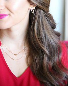 heart earrings from @charmingcharlie <3