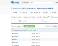 A high-frequency trading model using Interactive Brokers API with pairs and mean-reversion in Python - jamesmawm/High-Frequency-Trading-Model-with-IB High Frequency Trading, Interactive Brokers, Great Books, Coding, Ads, Model, Scale Model, Good Books