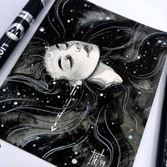 Just a bath in a sea of stars ✨😌✨ My new Patreon has a mini original tier which will get you a piece like this every month for much much… Watercolor Portrait Tutorial, Watercolor Paintings, Art Sketches, Art Drawings, Kunstjournal Inspiration, Artist Sketchbook, Pretty Art, Manga, Aesthetic Art