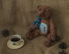 Teddy bear.The day tale of Saint Petersburg. by RainbowHS on Etsy