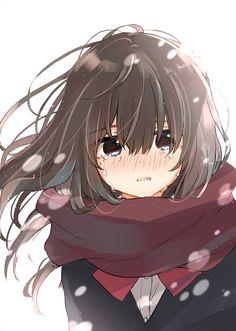 Anime Girl Crying, Sad Anime Girl, Anime School Girl, Anime Art Girl, Manga Girl, Anime Girls, Manga Kawaii, Chica Anime Manga, Kawaii Anime Girl