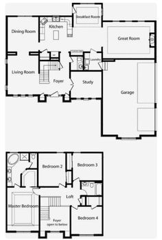 house plans two story home floor plans more 2 story floor plan two Two Story House Plans, House Layout Plans, Barn House Plans, Floor Plan Layout, 2 Story Houses, Two Story Homes, Dream House Plans, House Layouts, House Floor Plans