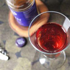 Hard Cider and Crème Yvette Sparkler